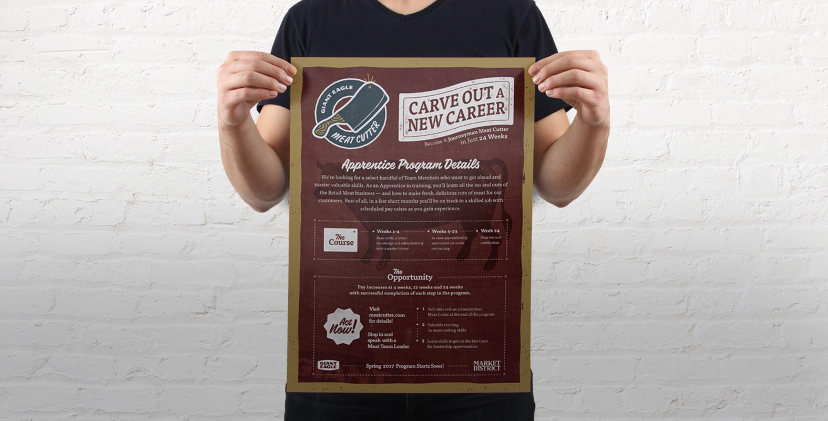 Giant-Eagle-Image-Meat-Cutter-Poster